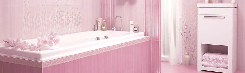 популярный цвет керамогранита - розовый
