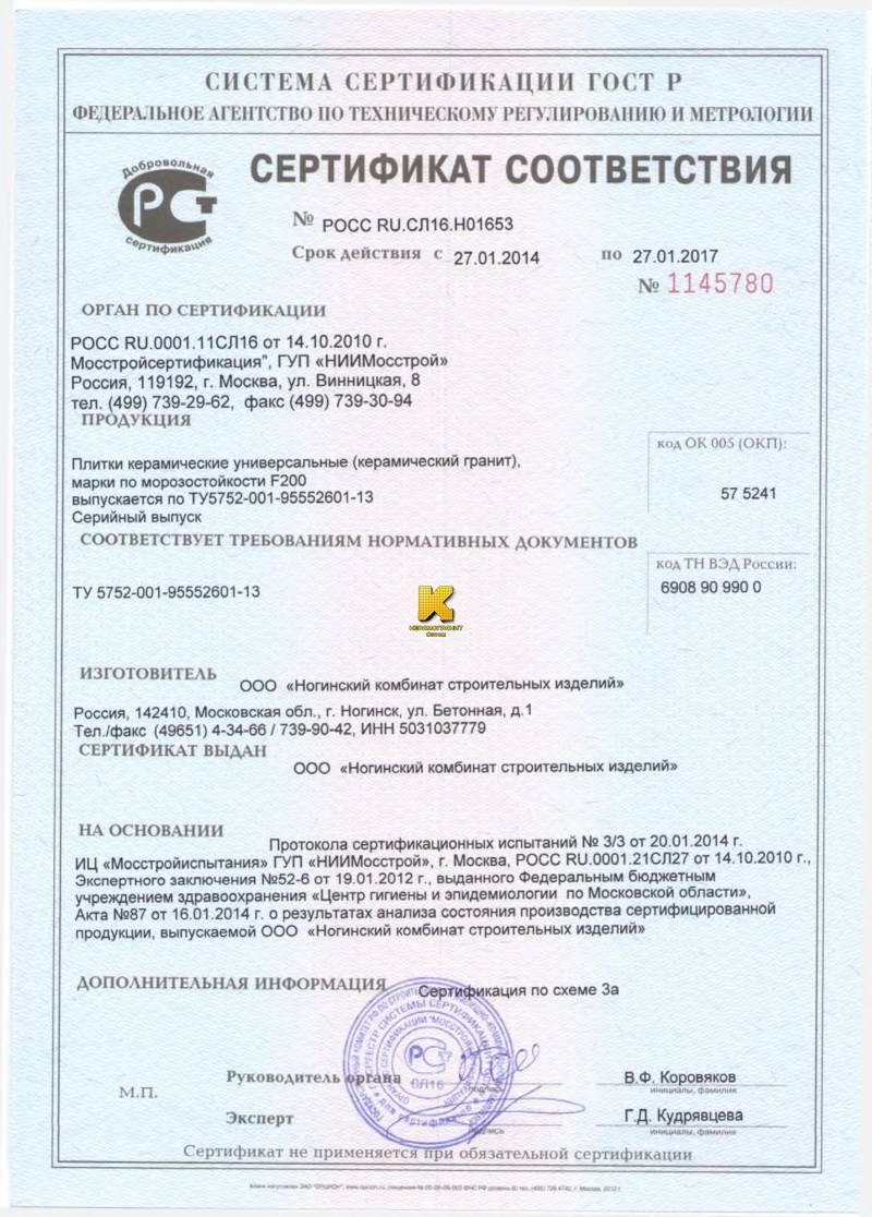 Сертификат На Керамогранит Керама Марацци