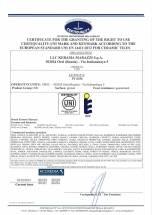 Европейский сертификат 3