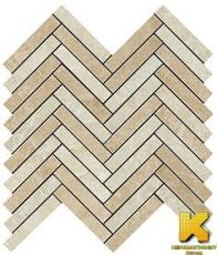 Мозаика Force light herringbone mosaic  29.8x29.3