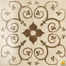 Charme Cream Inserto Bouquet 59x59