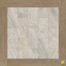 Керамогранит Magnetique white inserto root  60x60