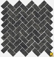 Мозаика Room stone black mosaico cross  31.5x29.7
