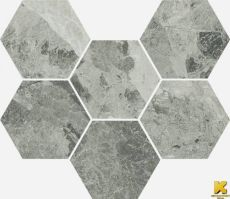Cha.Ext.Silver Mosaico Hexagon